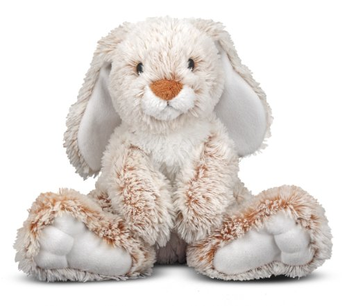 "Melissa & Doug Burrow Bunny Rabbit Stuffed Animal, Washable Surface, Soft Fabric , 9"" H x 10"" L x 6"" W"
