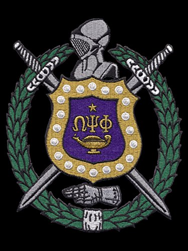 omega psi phi fraternity patches - 1