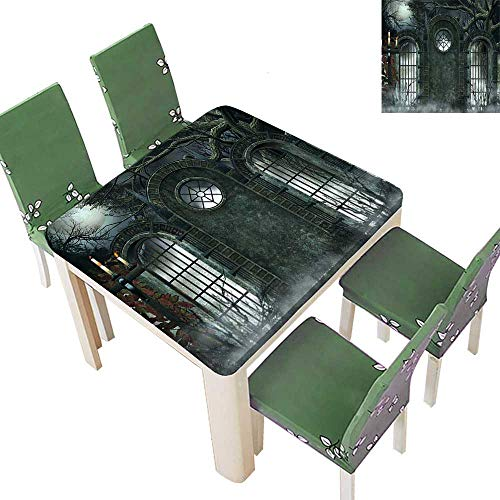 Printsonne Table in Washable Polyeste Mo Halloween Ancient