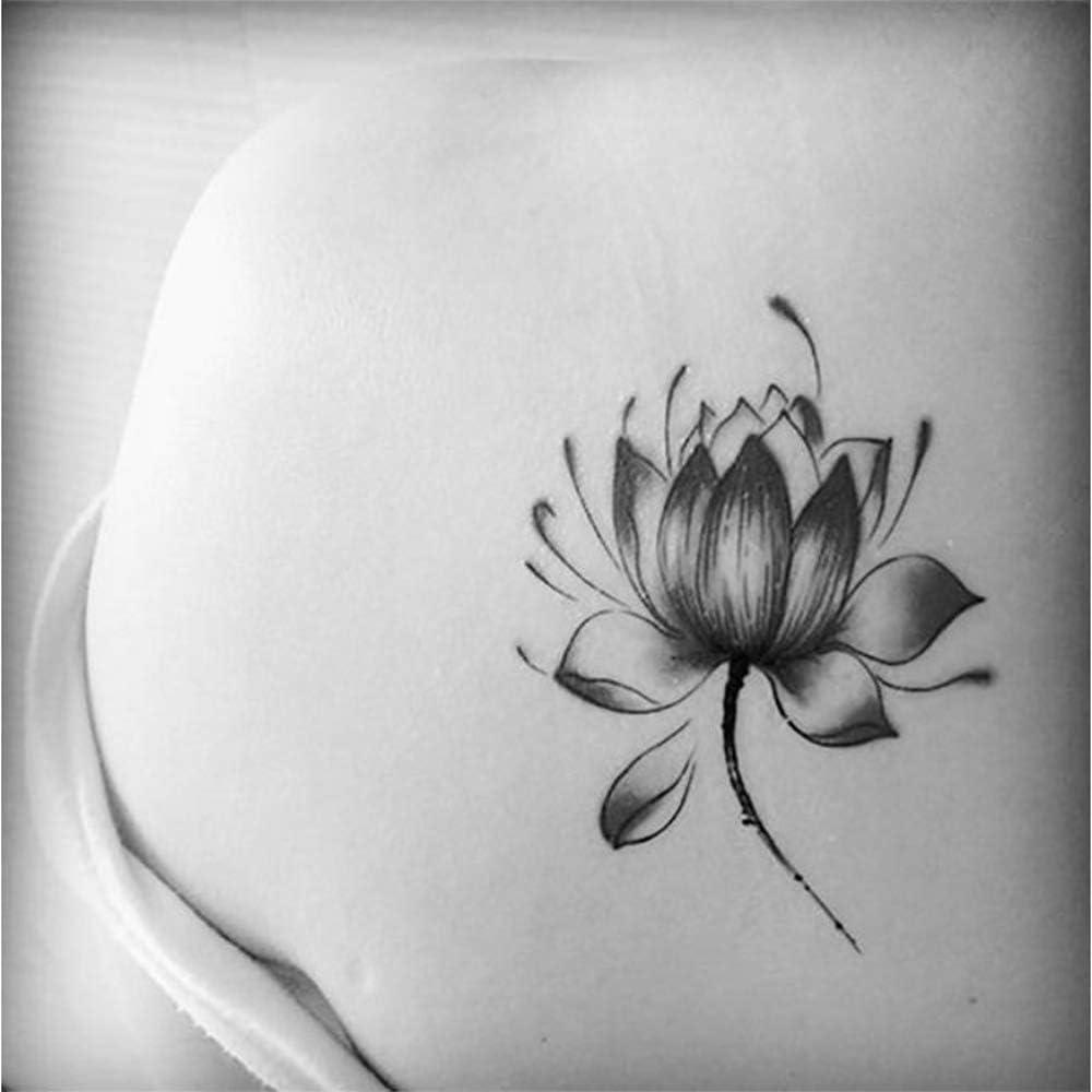 Tatuajes temporales minimalistas de tulipanes, flor de loto, para ...