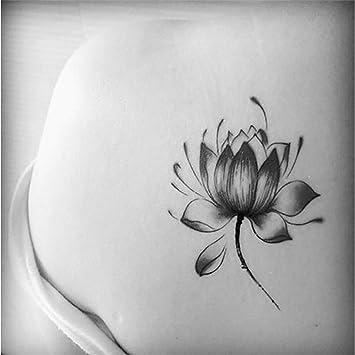 Tatouages Temporaire Minimaliste Tulipes Fleur De Lotus Pour Homme Et Femme Tatouage éphémère Avant Brasjambemolletbrasnuque 105 X 6 Cm