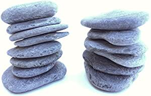Slate Rocks - 2 LBS of Rocks - Model # BT105 - average stone length is between 1 to 2 inches ( some rocks are flat and stackable others are not ) - product of Beach Treasures