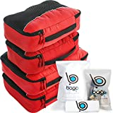 Bago Packing Cubes For Travel Bags - Luggage Organizer 10pcs Set (Red)