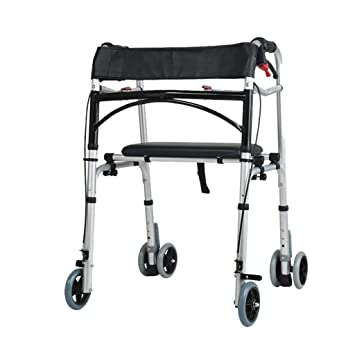 Accesorios para andadores con ruedas Walker Cuatro Patas Walker Coche discapacitados barandillas Inferior Miembro Entrenamiento andando Walker ayudas (Color ...