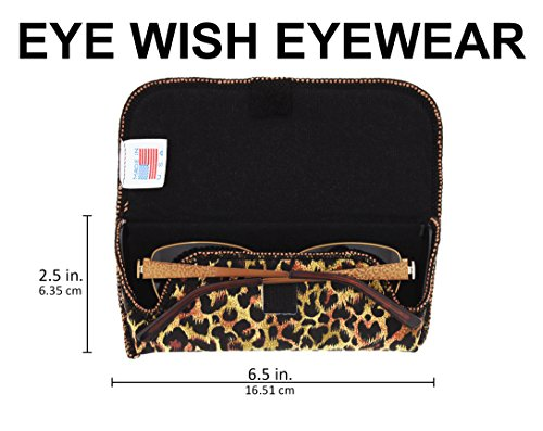 Women's Fashion Eyewear Case For Small To Large Glasses In Stylish Leopard Print