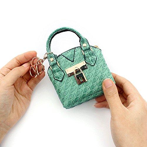 Mujeres Cuero Jin patrón Lindo Bolsa 2pcs De Niñas Almacenamiento Monedero Ya Verde Gallo Pata Mini gFEfqAww