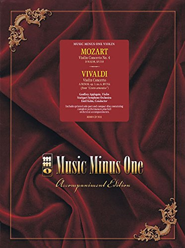 Mozart Violin Con No4 In D Maor Kv218; Vivaldi Con In A Minor Op3 No6 Book/CD (Music Minus One (Music Minus One Violin)