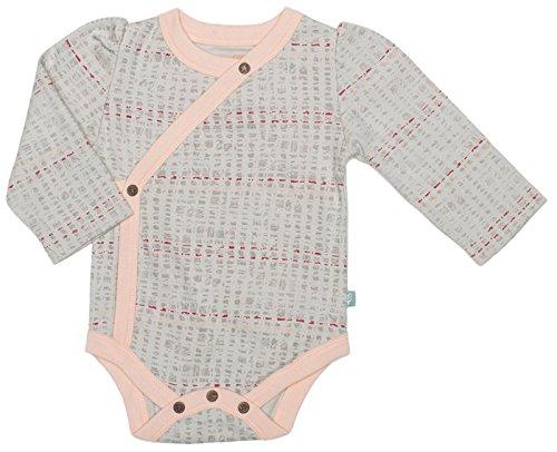 - Finn + Emma Organic Cotton Long Sleeve Bodysuit for Baby Boy or Girl - Scribble, 3-6 Months