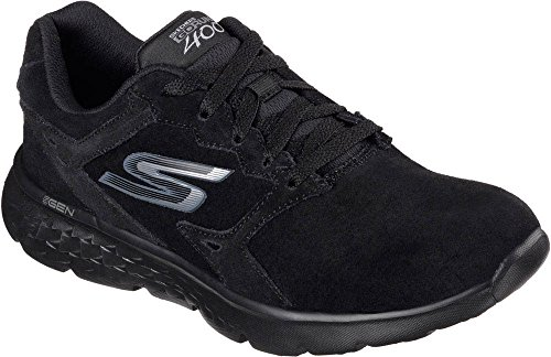 Skechers Women's GOrun 400 Lace Up Running Shoe Black 8 M US