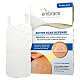 "Embrace Active Scar Defense Silicone Scar Sheets for New Scar Treatment, Large (4.7""), 3 ct, 30 Day Supply"