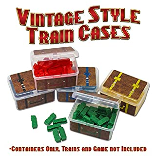 """Storage Cases for Ticket to Ride Board Game, Compatible with Original and Europe Version, Expansion, Vintage Style """"Suitcase"""""""