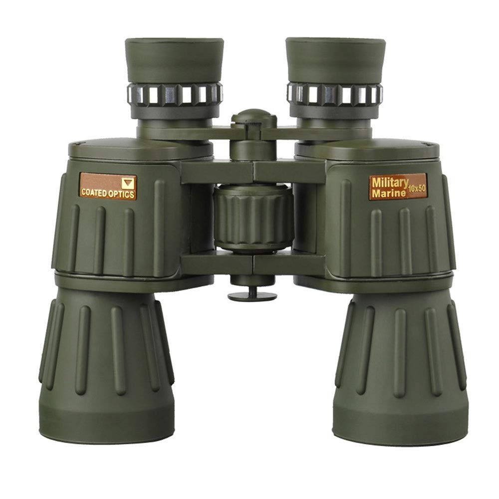 Outdoor Travel Telescope 1050 Binoculars HD High Definition with Big Objective Lens BAK4, Waterpoof for Fishing HikingCruise Army Green by YITEJIA