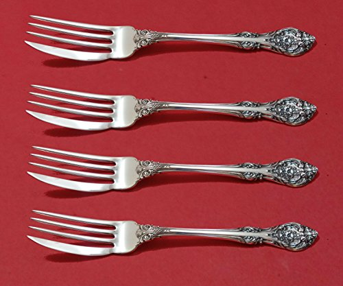 King Edward Gorham Sterling (King Edward by Gorham Sterling Silver Fish Fork Set 4pc AS Custom Made 7