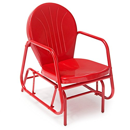 Vintage Metal Glider - Coral Coast Vintage Retro Outdoor Glider Chair