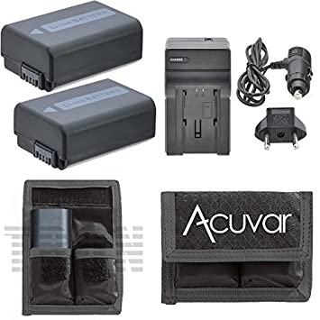 Amazon.com: 2 NP-FW50 baterías de alta capacidad + Car ...