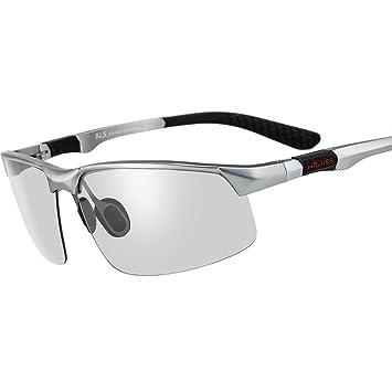 Pequeño árbol Gafas de sol que cambian de color multifuncionales polarizadas unisex, gafas de sol