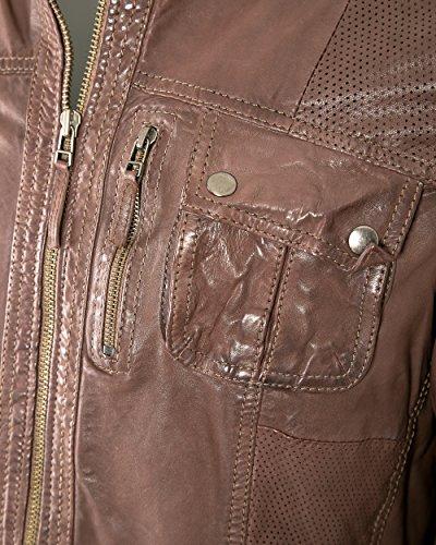 JCC Lederjacke, Herren M-7009 Echtleder Lammleder dark brown 48-60