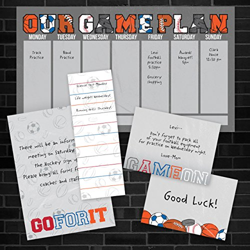 Game On Sports Adhesive Sticky Note Pack - 5 pads - 50 sheets / pad Photo #7