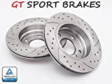 GT SPORT BRAKE DISCS GT0452 BMW X5 2000 2001 2002 2003 2004 2005 2006 REAR 324 MM
