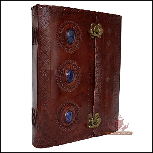 Medieval Stone Leather Journal Embossed Handmade Book of Shadows Notebook Office Diary College Book Poetry Book Sketch Book 7 x 10 Inches