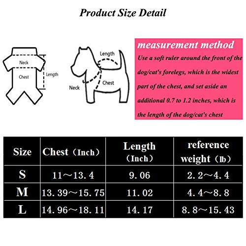 Coppthinktu Cat Recovery Suit for Abdominal Wounds or Skin Diseases, Breathable E-Collar Alternative for Cats and Dogs, After Surgery Wear Anti Licking Wounds
