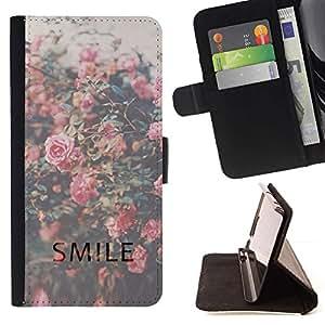 Momo Phone Case / Flip Funda de Cuero Case Cover - Vignette Roses - Samsung Galaxy S3 III I9300