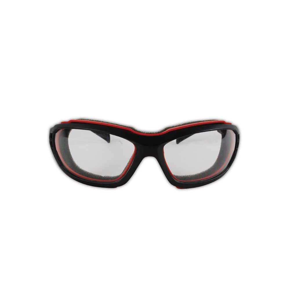 Clear Lens 1 Pair Sporty Scratch Resistant Safety Glasses with a Removable Flame Resistant Foam Liner /& a Dual Venting System Removable Strap Magid Safety Y85BRAFC Protective Glasses Magid Glove /& Safety Y85BRAFC-AMZN