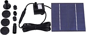 Yuniroom Solar Power Floating Fountain Water Pump for Garden Pond Pool Fish Tank
