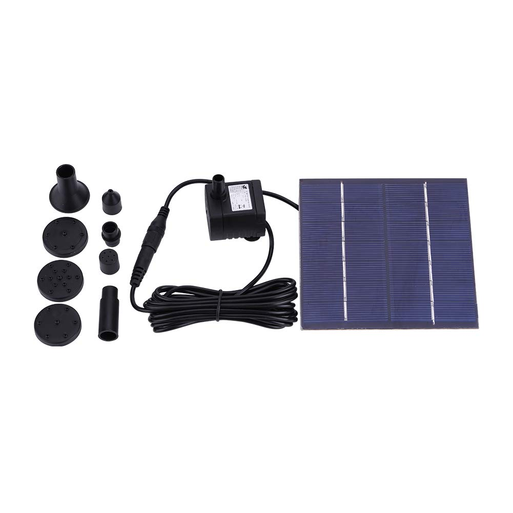 1.2W Solar Fountain Pump Submersible Floating Water Pump Panel Kit for Garden Pond Pool Fish Tank No Battery Or Electricity Required Zerodis
