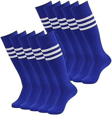 saillsen Unisex Soccer socks Long Tube Colored Stripes Baseball Socks 6 Pairs