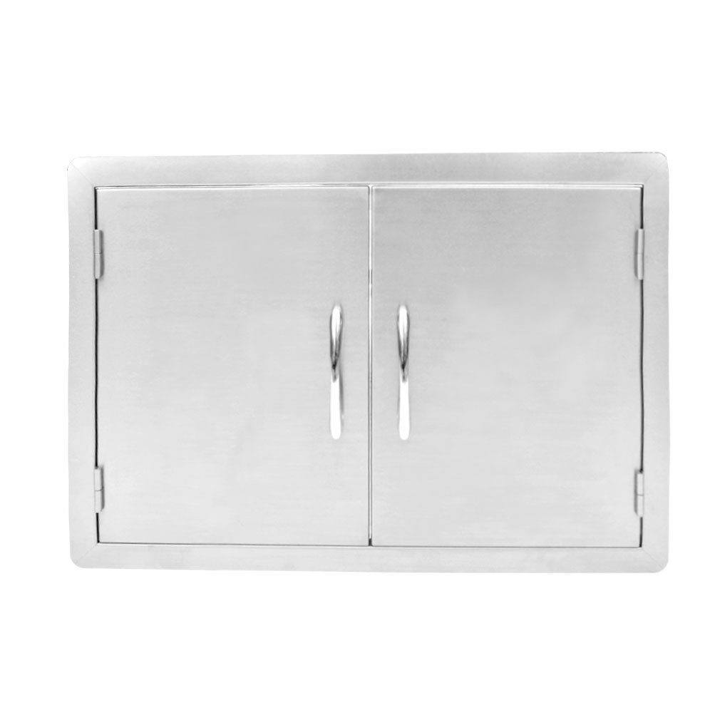 Stanbroil Outdoor Kitchen Stainless Steel Double Access Door, 30 Inches