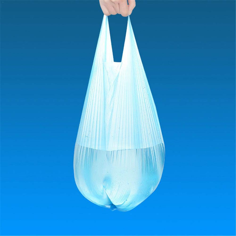 High Capacity and High Load Capacity blue Waroomss 100 x Thick Plastic Bin Bags for Home Office Non-Toxic Odourless