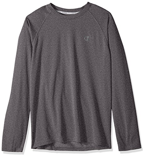 Champion Men's Double Dry Select Long Sleeve T-Shirt, Granite Heather, 2X-Large ()