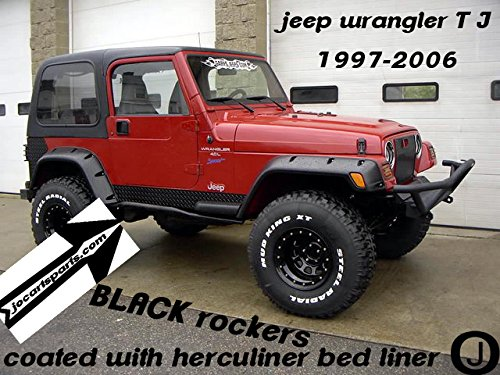 Jeep Wrangler Black Coated TJ Rockers 5 -
