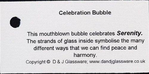Celebration Glass Bubble Serenity