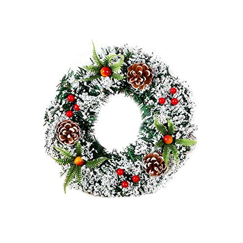Christmas Wreath Country Style Handmade Christmas Wreath Garland Ornaments Christmas Decoration Approved for Home Outdoor Use 15.7in (Christmas Country Style Wreaths)