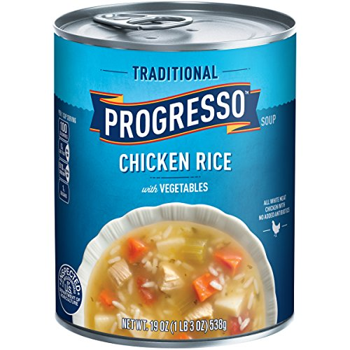 Progresso Soup, Traditional, Chicken Rice with Vegetables Soup, Gluten Free, 19 oz Can