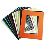 Golden State Art Picture Mat 8x10 for 5x7 Photos (Pack of 20), Assorted Colors