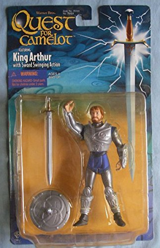 QUEST FOR CAMELOT KING ARTHUR with swinging sword Action Figure (Sword King Arthur Toy)