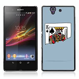 Designer Depo Hard Protection Case for Sony Xperia Z L36H / King of Spades