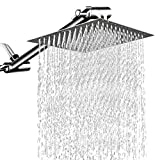 Best Shower Heads - 12'' Square Rain Showerhead with 11'' Adjustable Extension Review