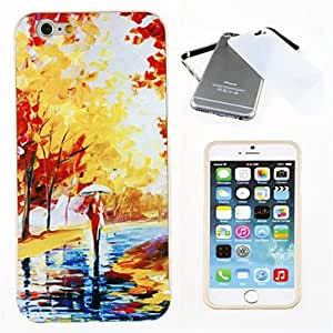 ZXSPACE Bumper and Oil Painting Pattern Back Case Cover for iPhone 6 , Golden