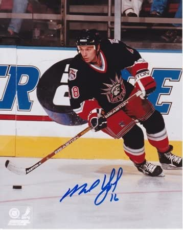 Autographed New York Rangers 8x10 inch Photo Mike York Signed