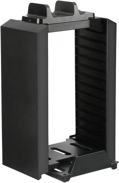 LESHP Soporte de Torre de Almacenaje Multifuncional con Consola de Juegos Torre de Almacenamiento de la