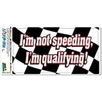fan products of I'm Not Speed Qualifying - Checkered Racing Flag MAG-NEATO'S(TM) Automotive Car Refrigerator Locker Vinyl Magnet