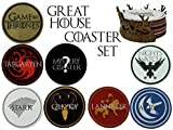 Game of Thrones Great House Coaster Set (8 Coasters Included)
