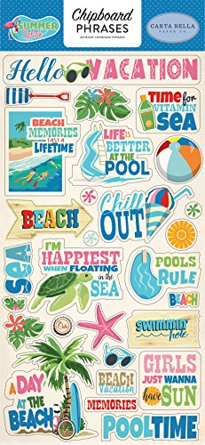 Carta Bella Paper Company Summer Splash 6x13 Chipboard Phrases