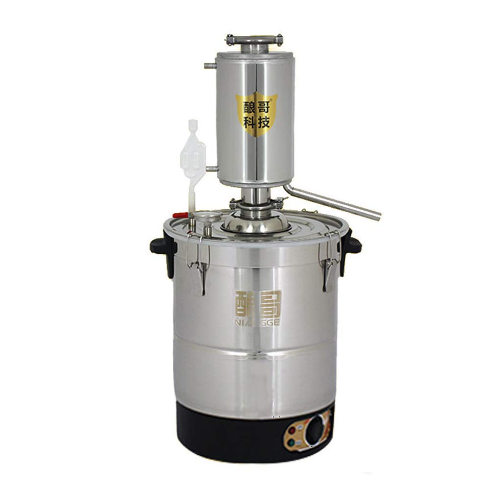 YUEWO DIY Home 20-50L Automatic Electric 220V 304 Stainless Steel Moonshine Still Distiller Alcohol Oil Water Brandy Whisky Sprits Wine Brew Kits (50L) by YUEWO