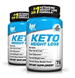 BPI Sports Keto Weight Loss Ketogenic Supplement, 75 Capsules (Pack of 2)
