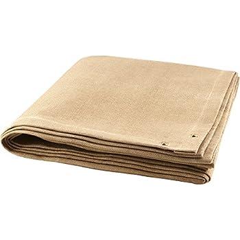 6x6 Sellstrom S97616 Welding Blanket Black 25 oz Vermiculite Coated Fibreglass